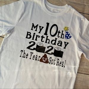 2020 Quarantine Birthday Shirt Kids Custom Shirt